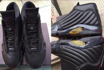 "Air Jordan 13/14 ""Defining Moments"" Pack Features A Black/Gold Air Jordan XIV"