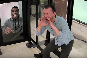 Giannis Antetokounmpo Facetimes Unsuspecting Bucks Fans At Milwaukee Bus Stop
