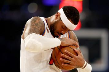 "Report: Carmelo Anthony's ""Primary Objective"" Is To Get Traded To Houston"