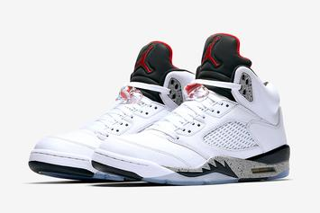 """White Cement"" Air Jordan 5 Releasing In Sizes For The Whole Fam"