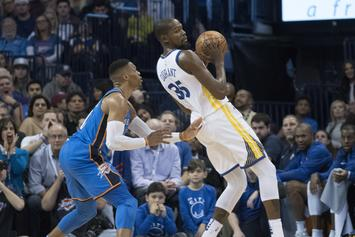 Kevin Durant & Russell Westbrook Get Into Heated Exchange In OKC