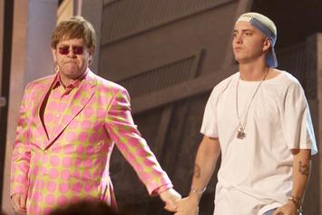 "Elton John: Eminem's Absurd Wedding Present Proves ""How Homophobic He Isn't"""
