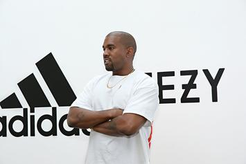 Kanye West Steps Out In New Yeezy Wave Runner 700