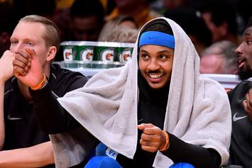 Carmelo Anthony Drops F-Bomb On Live TV, Thanks To Russell Westbrook