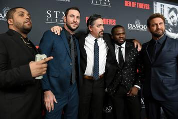 "50 Cent's Son Sire Joins His Dad On The ""Den Of Thieves"" Red Carpet"