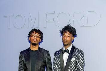 21 Savage, Metro Boomin, Pusha T, Russell Wilson & More At Tom Ford NYFW Show