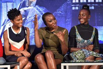 "Lupita Nyong'o & ""Black Panther"" Co-Star Letitia Wright Share Backseat Freestyle"