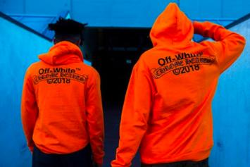 Virgil Abloh Debuts Off-White x Chrome Hearts Collab Of Bold Orange Hoodies
