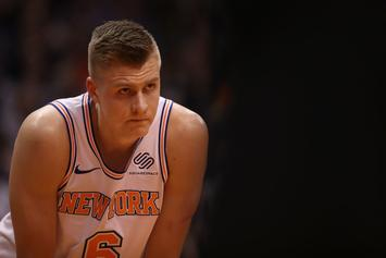 Kristaps Porzingis Posts First Message Since ACL Surgery