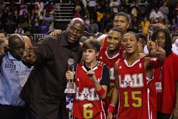 Justin Bieber Joins Team Lakers For Celebrity All-Star Game