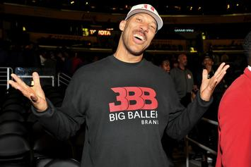 """LaVar Ball Lip-Sync Battles Lonzo Ball With Off-Kilter """"Hate Me Now"""" Cover"""