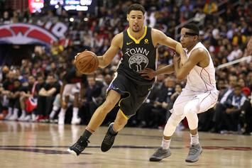 """Klay Thompson Debuts """"Black Panther"""" Version Of His Signature Shoe"""