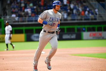 Chicago Cubs' Ian Happ Homers On First Pitch Of MLB Season