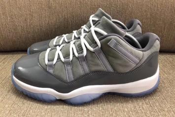 "Air Jordan 11 Low ""Cool Grey"" Release Date Announced"