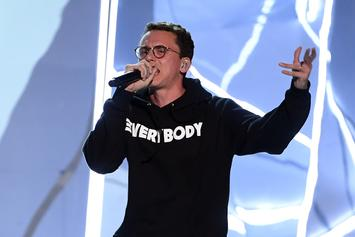"""Logic Posts Up With The Rock, Dubs Himself """"The Pebble"""""""