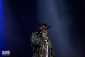 Kendrick Lamar Performing At 56th Annual Grammy Awards