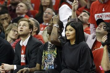 Kylie Jenner & Travis Scott Enjoy Ocean Breeze In Adorable New Photo