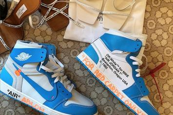 "Virgil Abloh Debuts Off-White x Air Jordan 1 ""UNC"""