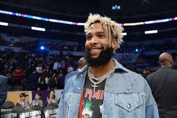 Odell Beckham Jr. Hits A Home Run At Yankee Stadium During Batting Practice
