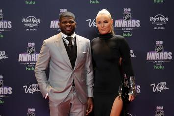P.K. Subban & Lindsey Vonn: The Sports Couple Posing In Matching Swimwear