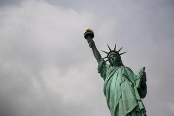 Statue Of Liberty Climbed By Woman On 4th Of July