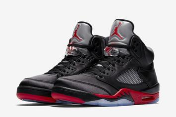 """Satin Air Jordan 5 """"Bred"""" Slated To Release This Year"""