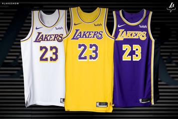 Los Angeles Lakers Reveal New Uniforms For 2018-19