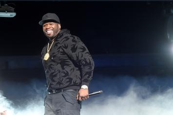 50 Cent Collects Cash Off The Stage After Making It Rain At Strip Club