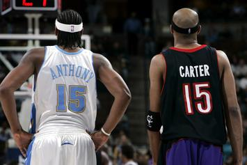 Atlanta Hawks Give Carmelo's Illustrious #15 Jersey To Vince Carter