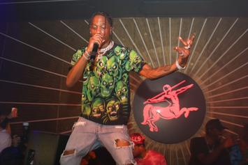 Travis Scott Delivers Surprise Performance At NBA 2K19 Release Party In NYC