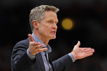 """Steve Kerr Ejected From Preseason Game: """"I Don't Want To Be Here Anyway"""""""
