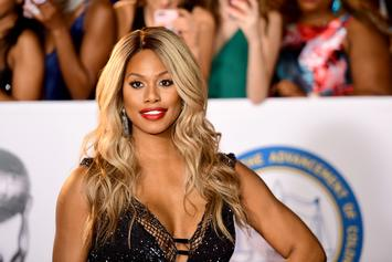 Laverne Cox Red Carpet Wardrobe Malfunction: Low-Cut Dress Unzipped & Falling