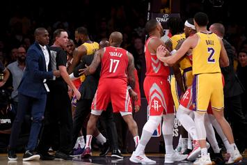 NBA Investigating Lakers-Rockets Brawl, Players Likely To Face Suspensions