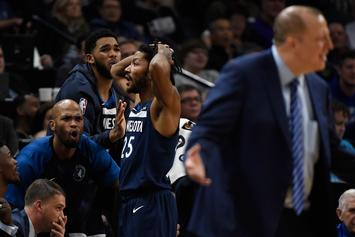 """Karl-Anthony Towns Asked To Be Subbed Out, Announcer Questions His """"Heart"""""""