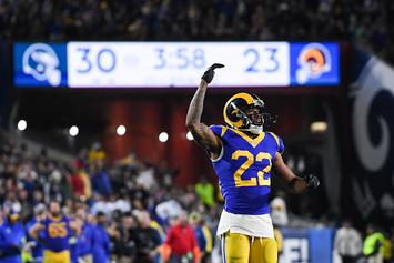 """Rams' Marcus Peters Confronts Heckler: """"Talk That Sh*t Now"""": Video"""