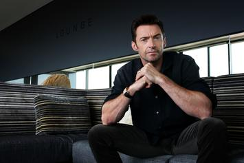 Hugh Jackman Shows Off His Ball Handling Skills With The Harlem Globetrotters