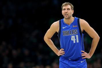 "Dirk Nowitzki Gets ""The Standing O"" In Boston, While Chasing Kobe's Records"