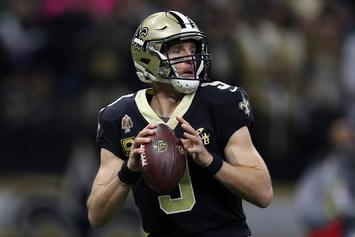 Drew Brees Was Treated To A Surprise Birthday Party After Saints Win Against The Eagles