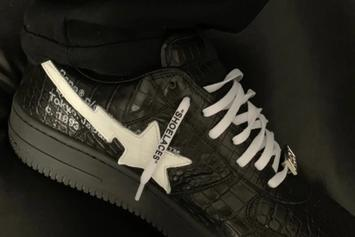 Off-White Bape Bapesta Appears At Paris Fashion Week