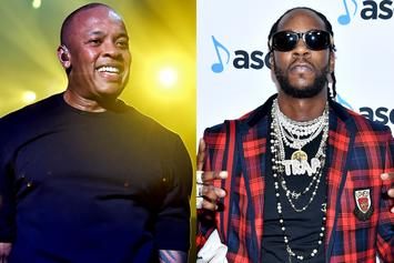 Dr. Dre & 2 Chainz Link Up In The Studio