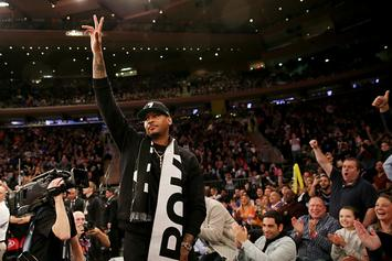 Carmelo Anthony Receives Standing Ovation During Knicks Game At MSG