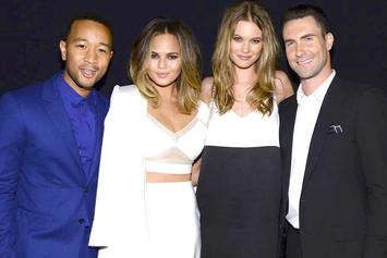 John Legend & Adam Levine Star In Super Bowl Pampers Ad With Their Wives