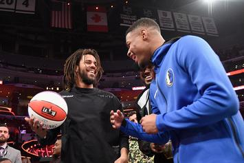 "Dennis Smith Jr. ""Bouncing Ideas Off J. Cole"" For Dunk Contest"