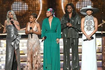 Alicia Keys Opens Grammys With Michelle Obama, Lady Gaga, J-Lo & Jada Pinkett