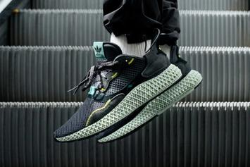 "Adidas ZX 4000 4D ""Carbon"" Coming Soon: On-Foot Images"