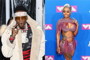 Soulja Boy & Blac Chyna Cuddle Up To Each Other In The Club