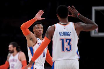 Paul George Sinks Double OT Winner As Westbrook's Triple-Double Streak Comes To End