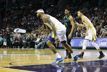 DeMarcus Cousins Got A Technical Foul For Throwing Jeremy Lamb's Shoe