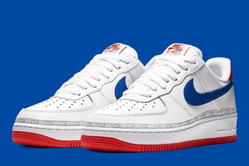 """Nike Air Force 1 Low To Release In Overbranded """"Red, Blue, And White"""" Colorway"""