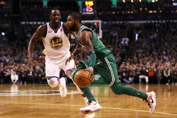 """Kyrie Irving Says """"Long Plane Ride"""" Helped Propel Celtics To Win Over Warriors"""